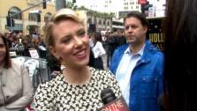 Scarlett Johansson talks to OnTheRedCarpet.com after her Walk of Fame ceremony on May 2, 2012. - Provided courtesy of OTRC