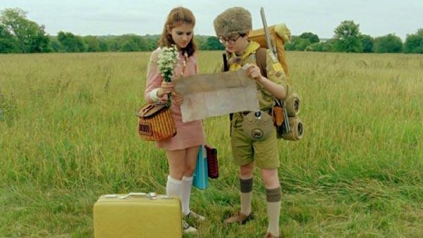 Jared Gilman and Kara Hayward appear in a still from Moonrise Kingdom.