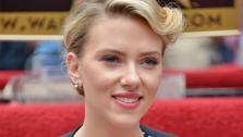 Scarlett Johansson poses with her star on the Hollywood Walk of Fame on May 2, 2012, two days before the release of her new film, The Avengers. - Provided courtesy of Walt Disney Studios Publicity