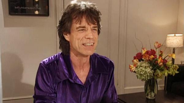 Mick Jagger appears in a still from a December 2011 episode of Saturday Night Live. - Provided courtesy of NBC