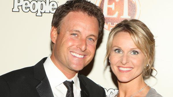 Chris Harrison and wife Gwen Harrison attend the Entertainment Tonight Emmy Party sponsored by People magazine, Sunday, Sept. 20, 2009 in Los Angeles. - Provided courtesy of AP / Shea Walsh