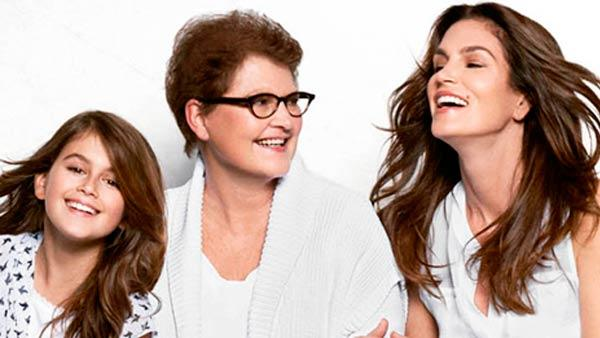 Cindy Crawford appears in an ad with her daughter Kaia Gerber and mother, Jennifer Sue Crawford-Moluf, in a Mothers Day ad for JC Penney in 2012. - Provided courtesy of JC Penney