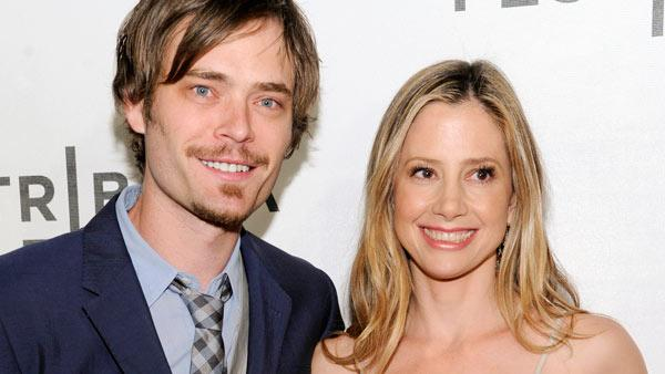Actress Mira Sorvino and husband Christopher Backus attend the world premiere of Angels Crest during the 2011 Tribeca Film Festival on Friday, April 22, 2011 in New York. - Provided courtesy of AP / Matt Sayles