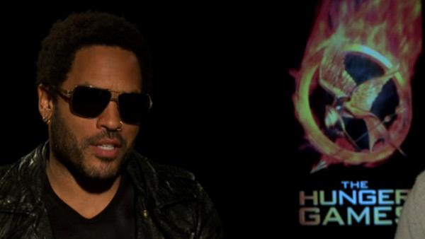 Lenny Kravitz talks to OnTheRedCarpet.com about 'The Hunger Games' in March 2012.