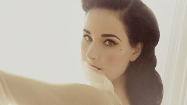 Dita Von Teese appears in a promotional photo for her new 'Von Follies' lingerie collection, set to be sold at Target Australia in 2012.