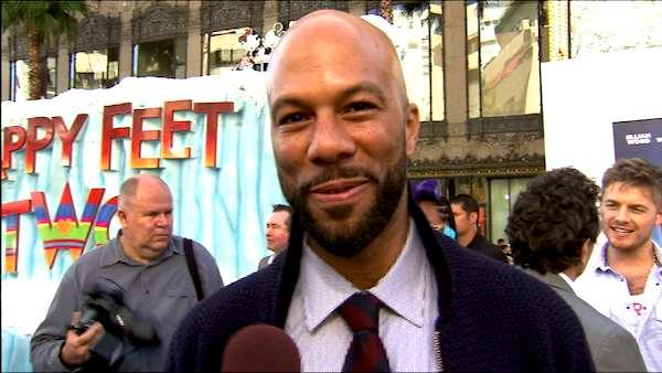 Common talks to OnTheRedCarpet.com at the Hollywood premiere of 'Happy Feet Two.'