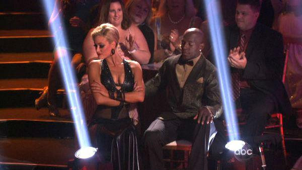 Football star Donald Driver and his partner Peta Murgatroyd received 27 out of 30 points from the judges for their Tango on week eight of 'Dancing With The Stars,' which aired on April 30, 2012.