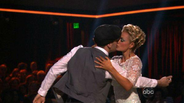 Classical singer Katherine Jenkins and her partner Mark Ballas received 26 out of 30 points from the judges for their Viennese Waltz on week eight of 'Dancing With The Stars,' which aired on April 30, 2012.