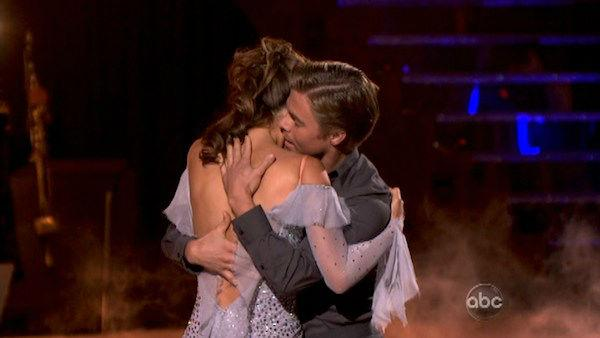TV personality Maria Menounos and her partner Derek Hough received 28 out of 30 points from the judges for their Viennese Waltz on week eight of 'Dancing With The Stars,' which aired on April 30, 2012.