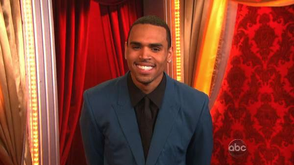 Chris Brown performed on the ballroom stage and sang his hit song 'Turn up the Music' on 'Dancing With The Stars: The Results Show' on Tuesday, May 8, 2012.