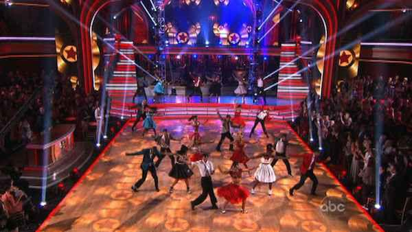The week's 'Macys Stars of Dance' was an 'American Bandstand' tribute to the late Dick Clark on 'Dancing With The Stars: The Results Show' on Tuesday, May 8, 2012.