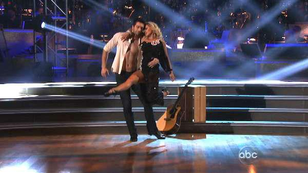 Dmitry Chaplin and Anya Garnis performed a special routine from the 'Dancing with the Stars Live in Las Vegas Show' on 'Dancing With The Stars: The Results Show' on Tuesday, May 8, 2012. The pair danced to the song 'Will You Still Love Me Tomorrow?'