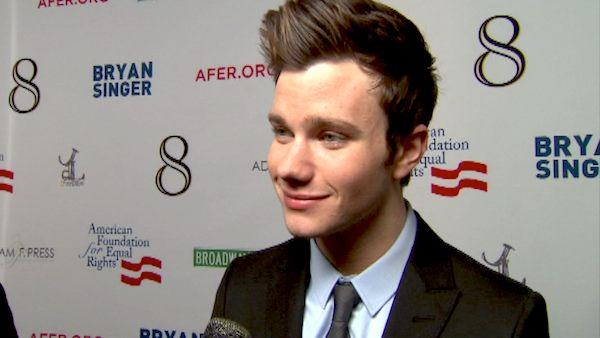 Chris Colfer talks to OnTheRedCarpet.com at the premiere of 'Prop 8' in December 2012.