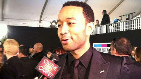 John Legend talks to On The Red Carpet's George Pennachio at the 2011 American Music Awards on Nov. 20, 2011.