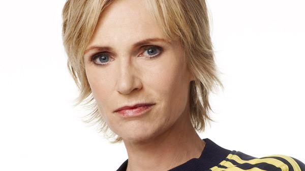 Jane Lynch appears in a promotional photo from 'Glee.'