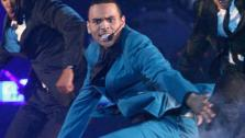 Chris Brown performed on the ballroom stage and sang his hit song Turn up the Music on Dan