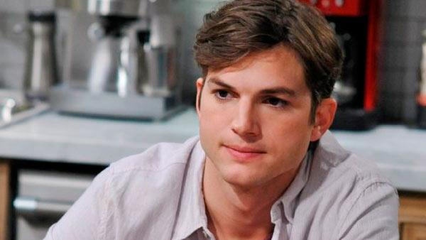Ashton Kutcher appears in a scene from the 9th season of Two and a Half Men in 2012. - Provided courtesy of CBS