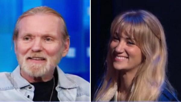 Gregg Allman and his fiance Shannon Williams appear in stills from the May 25, 2012 episode of 'Piers Morgan Tonight.'