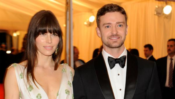 Jessica Biel and Justin Timberlake arrive at the Metropolitan Museum of Art Costume Institute gala benefit, celebrating Elsa Schiaparelli and Miuccia Prada, Monday, May 7, 2012 in New York. - Provided courtesy of AP / Evan Agostini