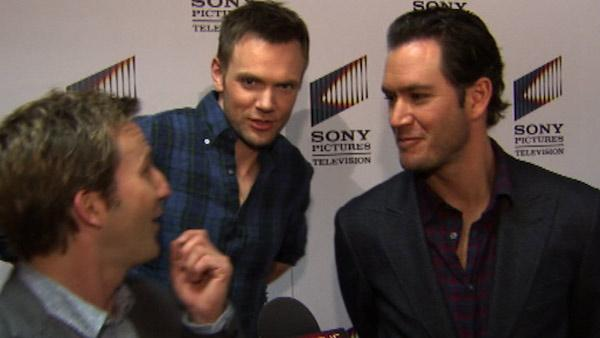 Joel McHale crashes 'Franklin & Bash's interview