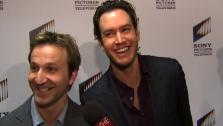 Mark-Paul Gosselaar and Breckin Meyer of Franklin & Bash talk to OnTheRedCarpet.com at a Sony Pictures Television event in Los Angeles in March 2012. - Provided courtesy of OTRC