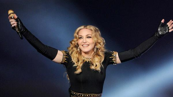 Madonna appears in a photo from the Super Bowl on February 5, 2012. - Provided courtesy of Madonna.com