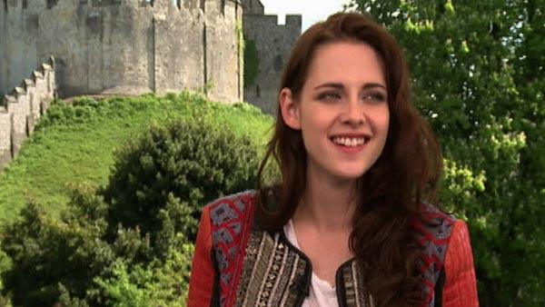 Kristen Stewart talks to OnTheRedCarpet.com at a press junket for Snow White and the Huntsman outside of Arundel Castle in West Sussex in the United Kingdom in May 2012. - Provided courtesy of OTRC