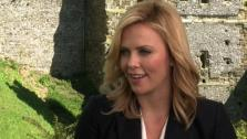 Charlize Theron talks to OnTheRedCarpet.com at a press junket for Snow White and the Huntsman outside of Arundel Castle in West Sussex in the United Kingdom in May 2012. - Provided courtesy of OTRC