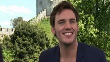 Sam Claflin talks to OnTheRedCarpet.com at a press junket for Snow White and the Huntsman outside of Arundel Castle in West Sussex in the United Kingdom in May 2012. - Provided courtesy of OTRC