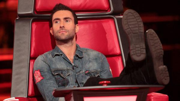 Adam Levine appears on an episode of 'The Voice' in 2011.