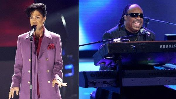 Prince and Stevie Wonder appear in photos from their appearances on 'American Idol.'