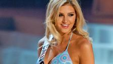 Miss California poses in a bikini during the Miss USA Presentation Show on May 30 from the Planet Hollywood Resort in Las Vegas, Nevada. - Provided courtesy of Miss USA / Darren Decker