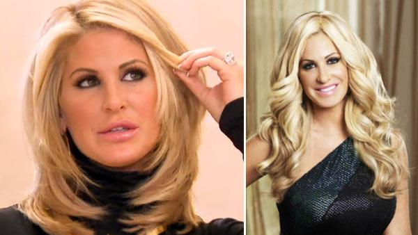 Kim Zociak appears in a still from her reality series, Dont Be Tardy for the Wedding. / Kim Zolciak appears in a promotional photo for season three of Real Housewives of Atlanta. - Provided courtesy of Bravo / Quantrell Colbert