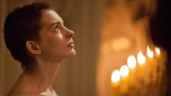 Anne Hathaway appears in a still from the 2012 film, 'Les Miserables.'