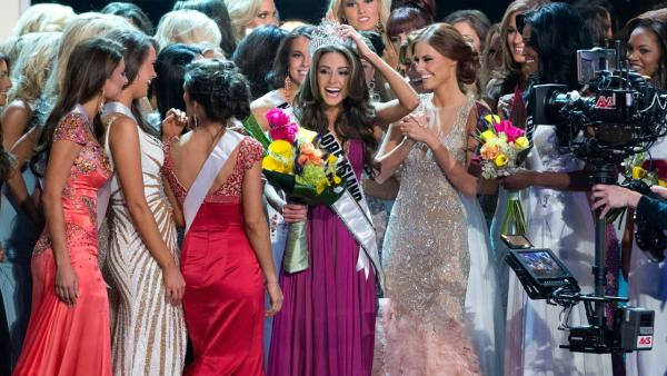 Miss Rhode Island, Olivia Culpo, is crowned during the 2012 Miss USA pageant, Sunday, June 3, 2012, in Las Vegas. - Provided courtesy of Richard Harbaugh / Miss Universe