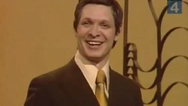 Eduard Khil appears in a 2010 video of his 1976 performance of 'I Am Glad, 'Cause I'm Finally Returning Back Home.'