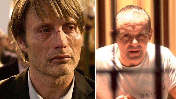 Mads Mikkelsen appears in a still from the 2006 film, After The Wedding. / Anthony Hopkins appears in a still from the 2002 film, Red Dragon. - Provided courtesy of IFC Films / Universal Studios
