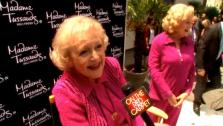 Betty White talks to OnTheRedCarpet.com about receiving a wax figure at Madame Tussauds in Los Angeles, Calif. on June 4, 2012. - Provided courtesy of OTRC