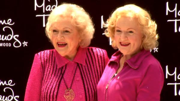 Betty White unveils her Madame Tussauds wax figure