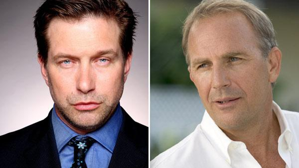 Stephen Baldwin appears in a photo posted on his official Facebook page on August 24, 2010. / Kevin Costner appears in a still from the 2005 film, Rumor Has It... - Provided courtesy of Facebook.com/StephenBaldwin / Warner Bros. Pictures