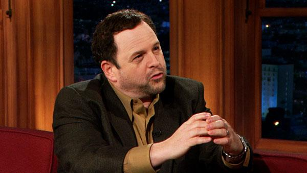 Jason Alexander appears in a scene from his appearance on The Late Late Show with Craig Ferguson when he made gay cricket comments that offended his followers. - Provided courtesy of CBS