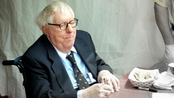 Ray Bradbury appears at the 2005 Los Angeles Book Festival in April 2005.