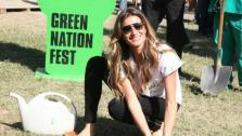 Gisele Bundchen plants a tree during the Green Nation Fest festivities in Rio de Janeiro in Brazil on June 4, 2012. - Provided courtesy of flickr.com/photos/doisbicudos/