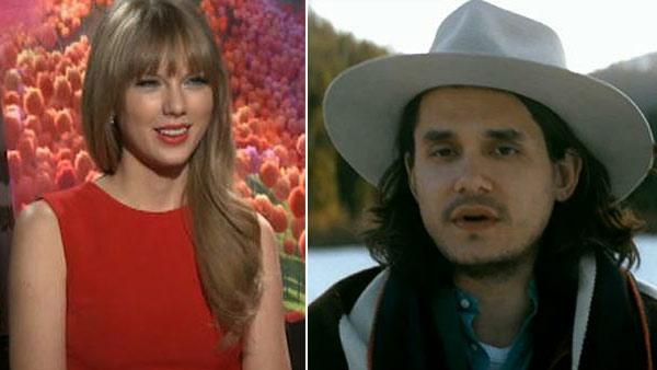John Mayer appears in a scene from his 2012 music video Shadow Days. /  Taylor Swift talks to OnTheRedCarpet.com about her 2012 film The Lorax. - Provided courtesy of OTRC / Columbia Records