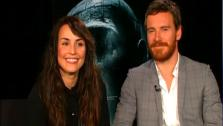 Noomi Rapace and Michael Fassbender talk to OnTheRedCarpet.com about Prometheus. - Provided courtesy of OTRC