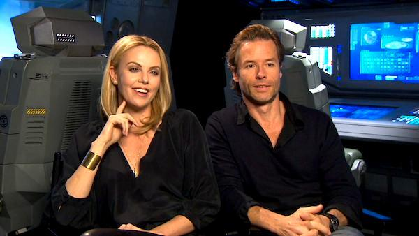 Charlize Theron and Guy Pearce on 'Prometheus'