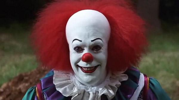 Tim Curry appears as Pennywise the clown in a scene from the ABC mini-series It in 1990. - Provided courtesy of ABC / Warner Bros. Television
