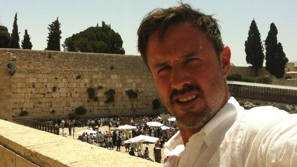 David Arquette Tweeted this photo on June 11, 2012, after he celebrated his bar mitzvah at Israel's Western Wall, Judaism's holiest prayer site.