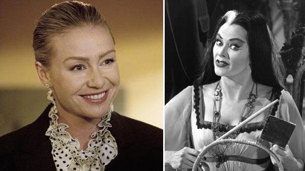 Portia de Rossi appears in a still from the ABC series, Better Off Ted. / Yvonne De Carlo appears as Lily Munster in a promotional photo for the 1960s CBS show The Munsters. - Provided courtesy of ABC / Bob Willoughby / Kayro-Vue Productions / CBS