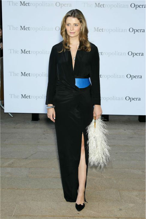 Micha Barton, formerly of the TV show 'The O.C.,' attends the New York Metropolitan Opera's season opening performance Of Tchaikovsky's 'Eugene Onegin' on Sept. 23, 2013.